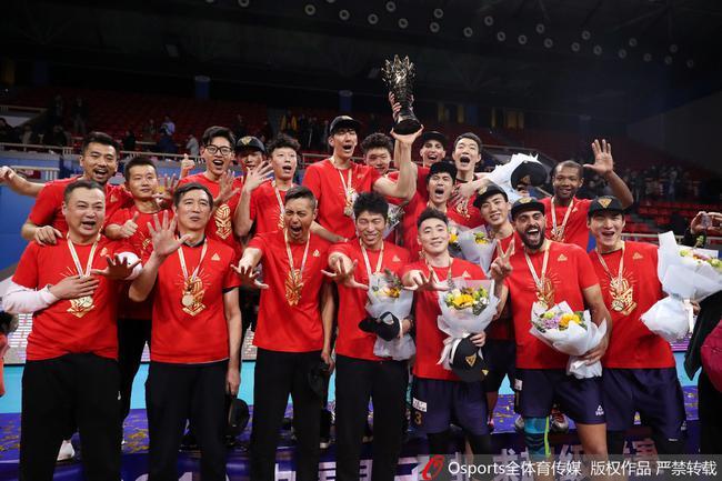 上海男排夺冠