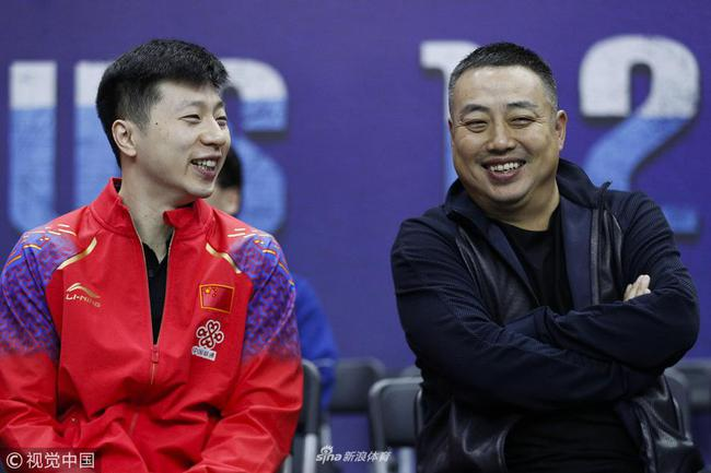 刘国梁与马龙