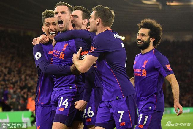 利物浦逆转南安普顿