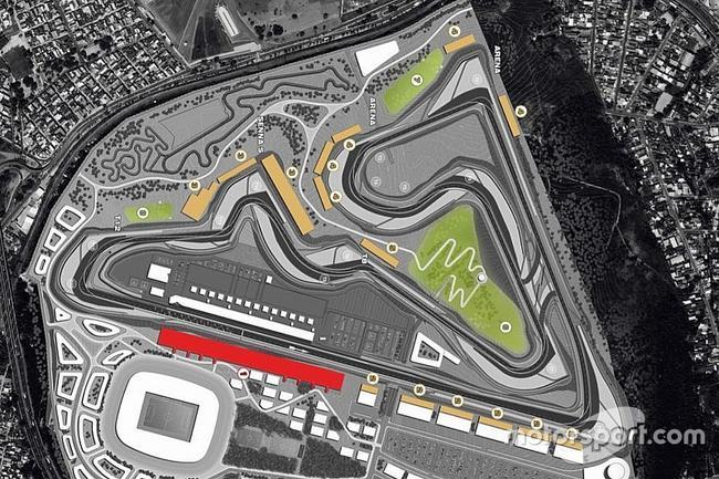 里约炎内卢F1赛道布局图