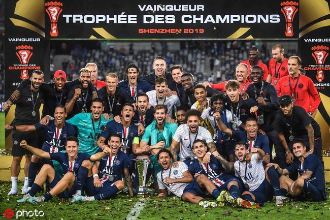巴黎庆祝法国超级杯夺冠