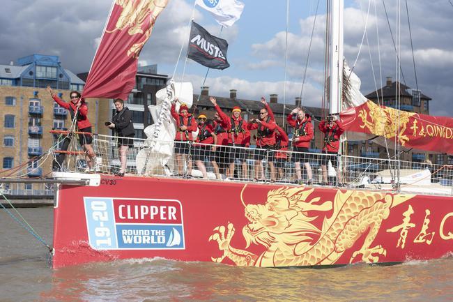 019-2020赛季克利伯环球帆船赛1日在伦敦起航