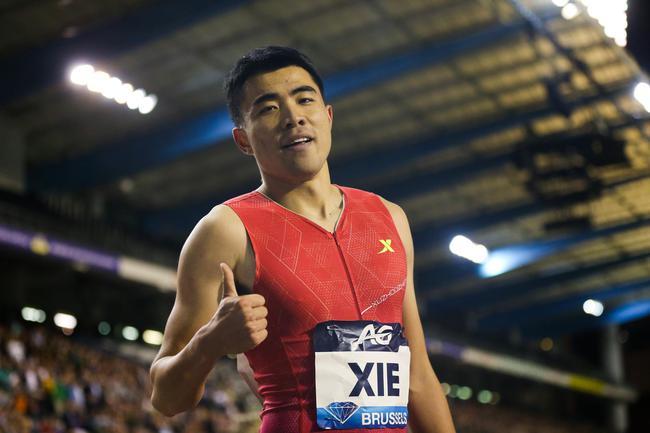 谢文骏在男子110米栏比赛中收获第五