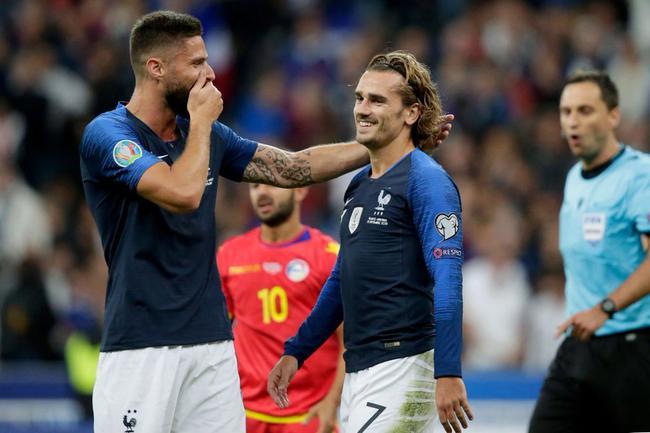 欧预赛-格子助攻+再失点 科曼进球+中楣 法国3-0