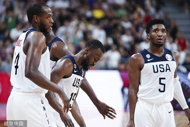 美国男篮昨晚被淘汰出局