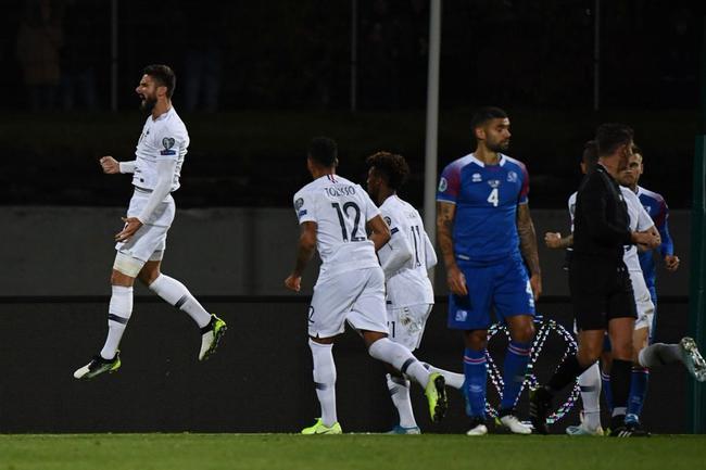 欧预-格子造点吉鲁破门 坎特伤退 法国客胜冰岛