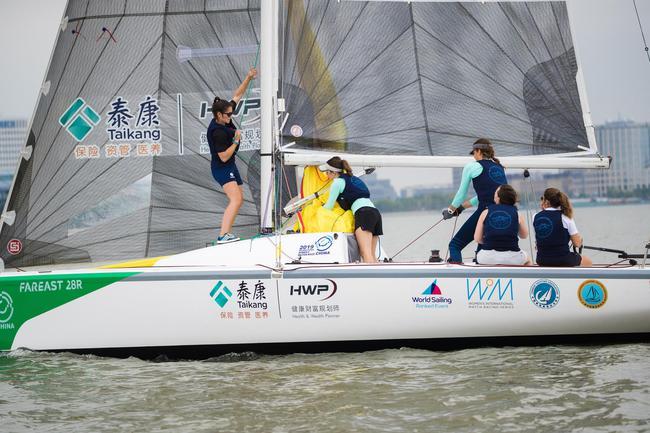 国际女子帆船对抗赛开幕