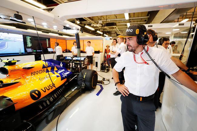 两届F1世界冠军费尔南众-阿隆索