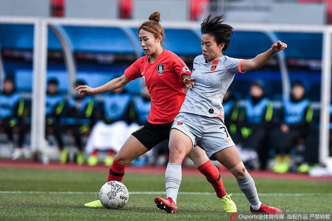 中韩女足在东亚杯战平