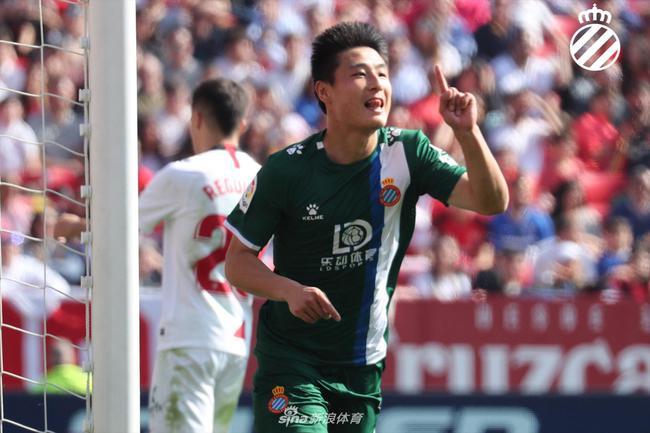 武磊打入个人首粒西甲客场进球