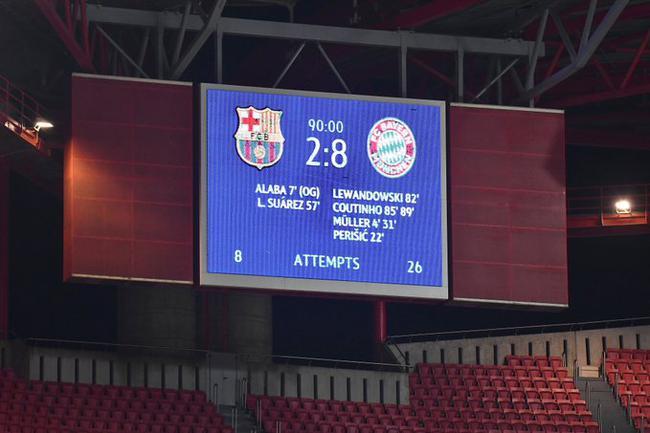 残暴!拜仁一场顶两场!七喜之后又送巴萨惨案