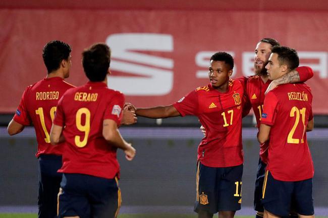 欧国联-拉莫斯双响 法蒂造点+进球 西班牙4-0大捷