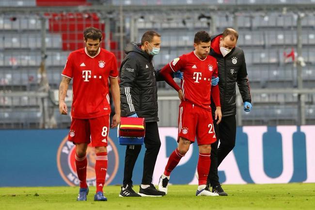 德甲-主将伤退科曼救主 拜仁主场中楣1-1止10连胜
