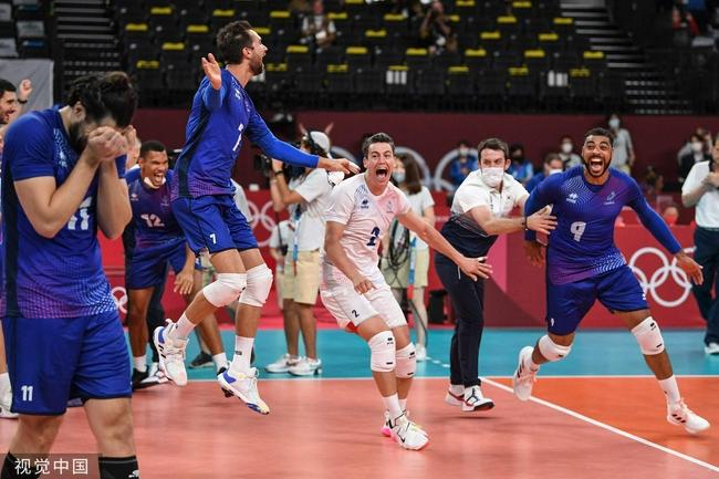 法国男排3-2险胜俄奥委会队 斩获队史奥运首金