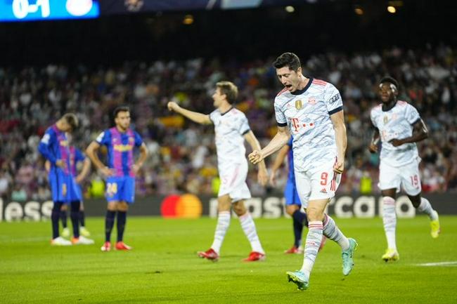 歐冠-萊萬梅開二度 穆勒進球 巴薩0-3主場負拜仁
