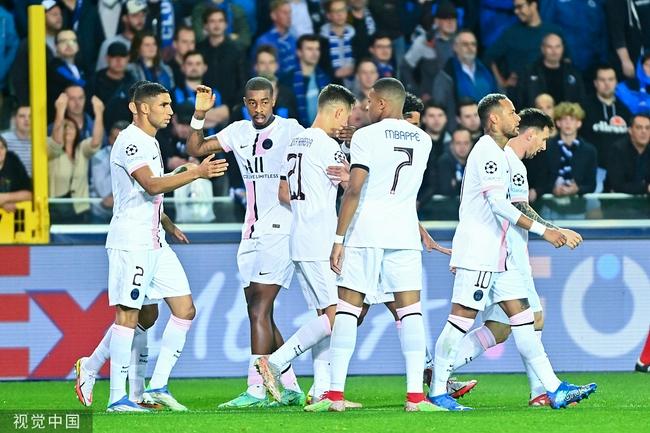 欧冠-姆巴佩助攻+伤退 梅西中横梁 巴黎客场1-1
