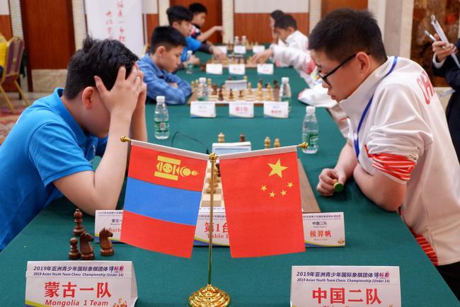 中国二队对阵蒙古一队