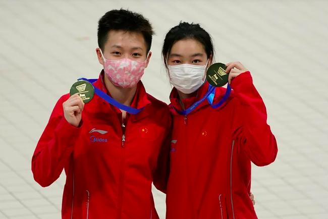 跳水世界杯揭幕 陈艺文/昌雅妮女双三米板夺金
