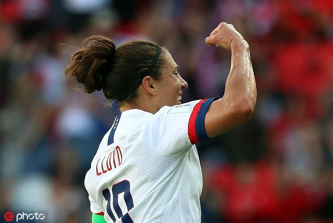 女足世界杯-美国3比0智利 两战狂轰16球提前出线