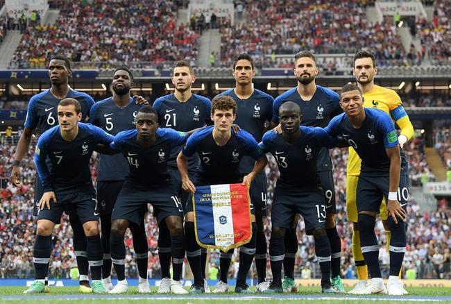 法国决赛首发11人