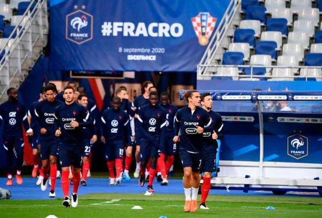 欧国联法国vs克罗地亚首发:格子马夏尔领衔3叉戟
