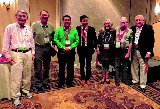 美国高尔夫珍藏协会的三位中国会员:作者、王志刚、吴一非