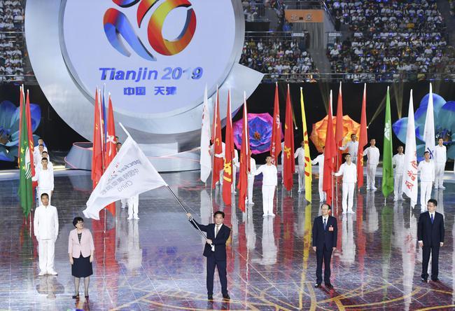 天下第十届残运会暨第七届特奥会终结式正在天津举办