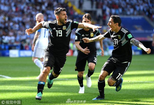 阿圭罗进球,阿根廷1-1冰岛