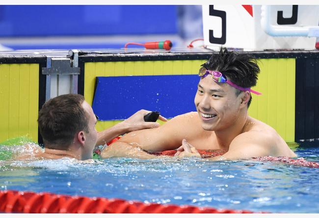 游泳春季赛覃海洋再超奥运A标 程龙自由泳摘第2冠