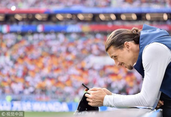 伊布在本届世界杯中只能作为球员观战了