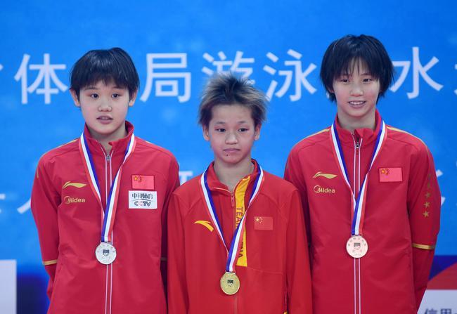 冠军赛女子十米台13岁黑马夺冠 世锦赛冠军摘铜