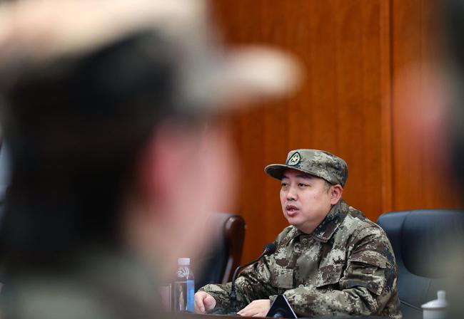 1月13日,中国乒协主席刘国梁在思想政治学习中讲话。