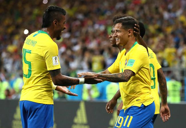 世界杯-内少+库鸟助攻 暴力鸟破门 巴西2-0夺头名