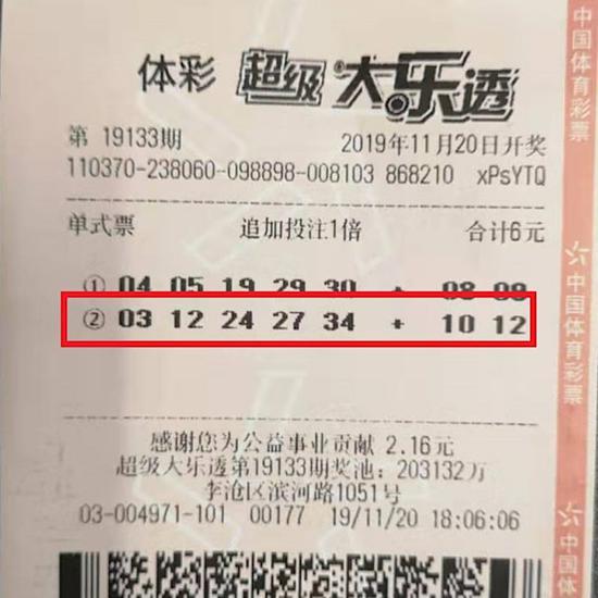 青岛阿姨为找零钱坐地铁 6元机选中大乐透116万