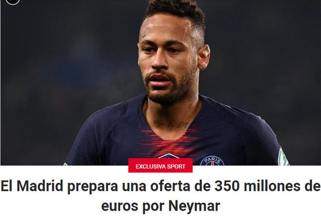 3.5亿欧元买内马尔