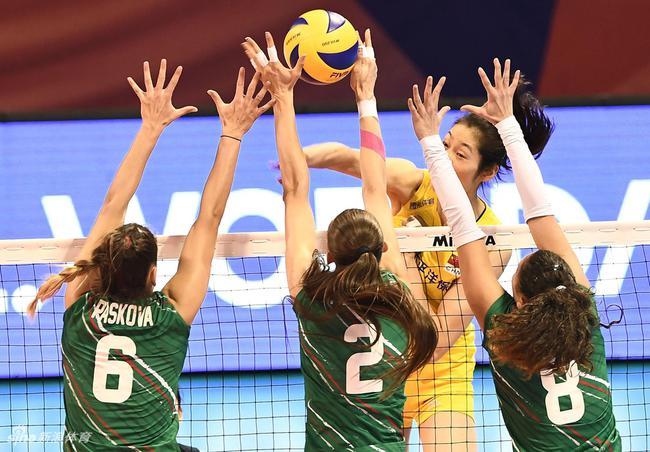 世界女排联赛中国3-0保添利亚