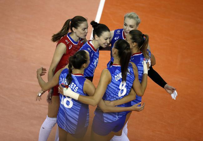 奥运资格赛俄罗斯女排3-0墨西哥 冈察洛娃砍12分