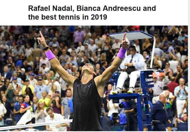 ESPN颁奖纳达尔荣膺年度最佳 温网决赛获最佳比赛