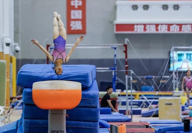 中国体操队备战