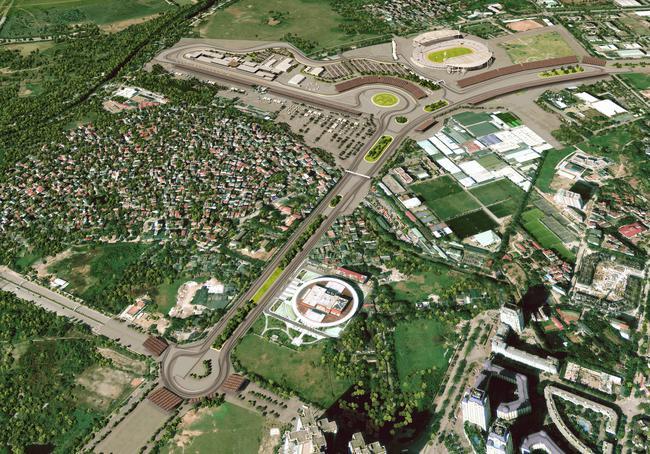 F1越南大奖赛河内赛道展示首张效果图