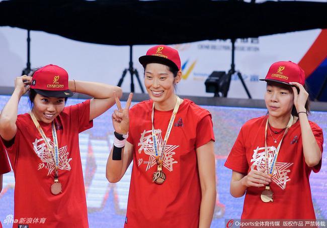 天津女排夺冠