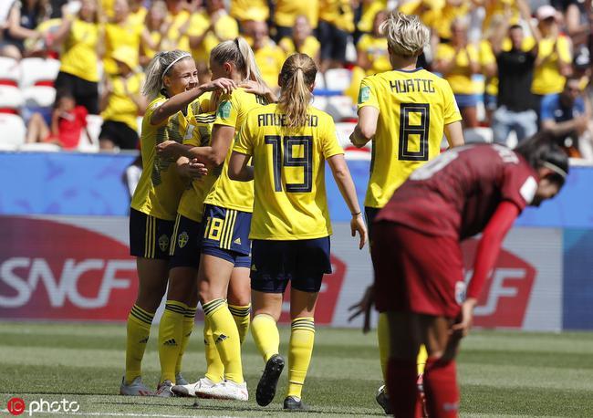 女足世界杯-泰国斩首球!瑞典5-1泰国连胜提前出线