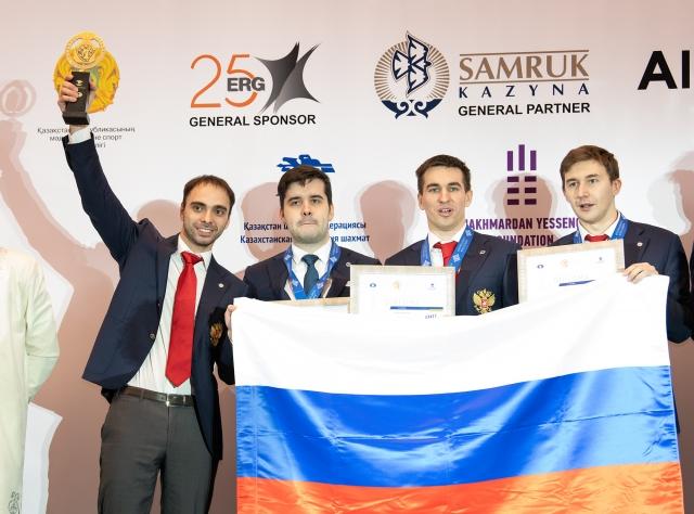 俄罗斯男队夺得世团赛冠军