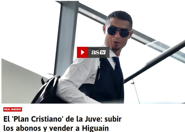 """《阿斯报》:尤文买C罗的""""克里斯蒂亚诺计划"""""""