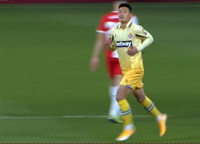 西乙-武磊替补出场 西班牙人两中柱客场负遭双杀