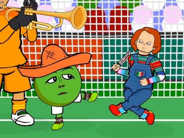 视频-进球功臣化身鬼娃 动画恶搞德国输墨西哥