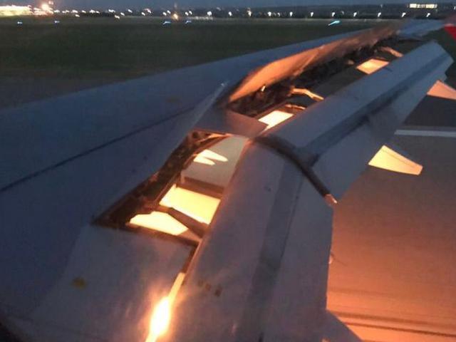惊魂一幕!沙特国家队飞机降落前起火