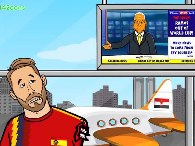 动画恶搞埃及两战皆负 拉莫斯疯狂嘲讽萨拉赫