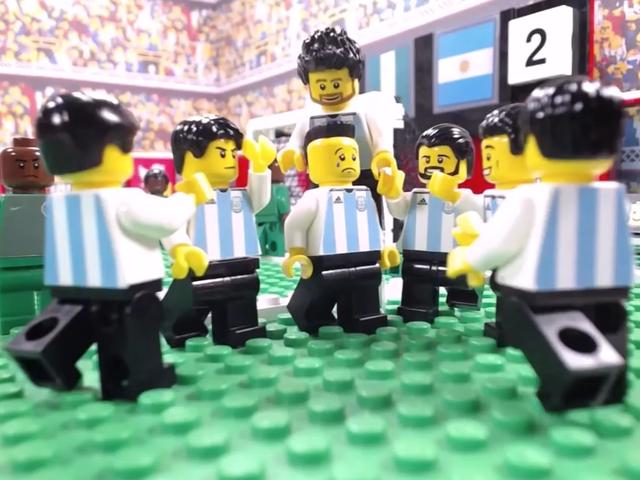 梅西破门罗霍绝杀 乐高版回顾阿根廷2-1起死回生