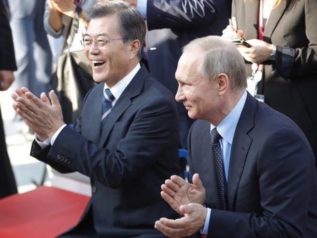 普京会见韩国总统